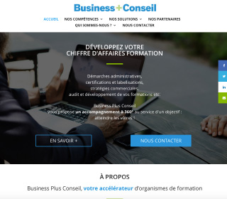 Page d'accueil BPlus Conseil